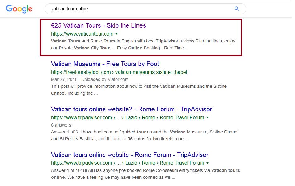 Vatican tours online